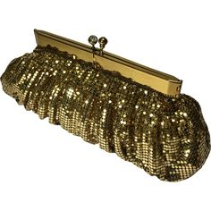 Gold Mesh Clutch Evening Purse found at www.rubylane.com @rubylanecom