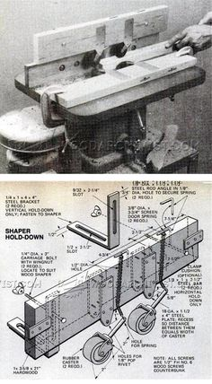 Router Table Hold-Downs - Router Tips, Jigs and Fixtures   WoodArchivist.com