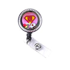 Retractable Badge Reel Pull Name Tag ID Clip Holder Washington Capitals Girl