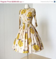 ON SALE vintage 1950's dress ...gorgeous CAROL Craig by traven7, $224.00