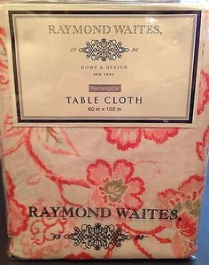 Superieur Raymond Waites Tablecloth New Cotton Floral Print Rectangular 60x102 New