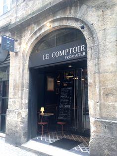 Le Comptoir Fromager Sanctuaire du #Fromage et du Vin , charcuterie et vins de France. 27 rue du Parlement Saint-Pierre, Bordeaux.
