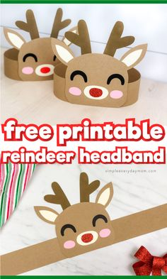 This reindeer headband craft for kids is a fun Christmas craft for kids to do at home or at school. It comes with a free printable template so it's easy to make! crafts for kids to make Reindeer Headband Craft For Christmas Kindergarten Christmas Crafts, Christmas Crafts For Kids To Make, Christmas Activities For Kids, Xmas Crafts, Preschool Crafts, Christmas Fun, Christmas Breakfast, Art Crafts, Christmas Ideas For Kids