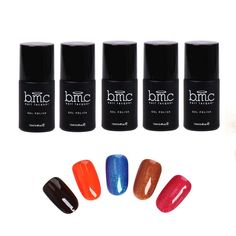 BMC Thermal Effect Color Changing Nail Lacquer Gel Polish - Awakening Collection, 5 pc Master Set -- Read more  at the image link.