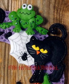 Brebaje de la bruja de Bucilla  fieltro Halloween guirnalda