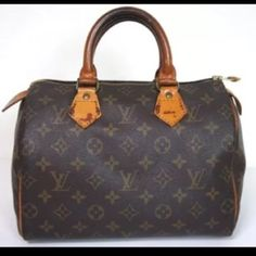 Speedy 25 Please refer to original listing for more info, speedy 25 canvas is in good condition zipper pull has torn off. Handles have patina from use. This is a vintage item please do not purchase this item if you want a new or unused bag. Louis Vuitton Bags