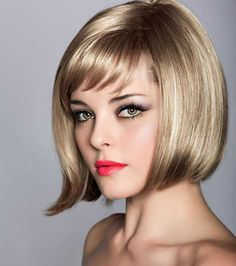 Best Hairstyles With Bangs - Ideas for Haircuts With Bangs Bob Hairstyles With Bangs, Bob Haircut With Bangs, Short Hair With Bangs, Short Bob Haircuts, 2015 Hairstyles, Short Hairstyles For Women, Straight Hairstyles, Bob Bangs, Side Bangs