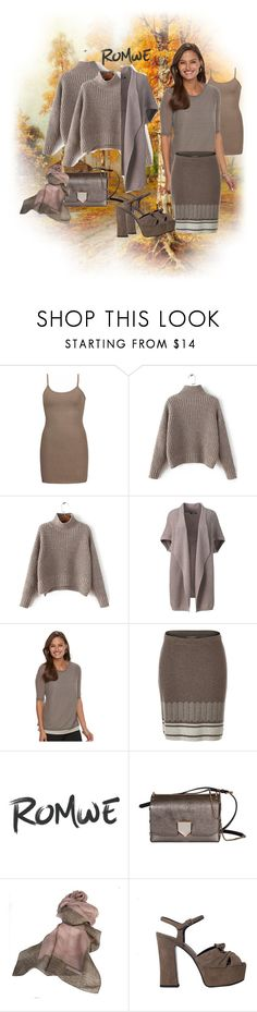 """""""beige to mushroom fort fall"""" by caroline-buster-brown ❤ liked on Polyvore featuring BKE core, Lands' End, Dana Buchman, Royal Robbins, Jimmy Choo, Borbonese and Yves Saint Laurent"""