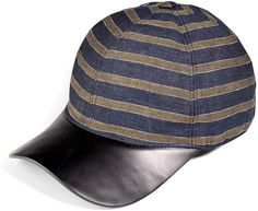 Pin for Later: 12 Pieces to Borrow From the Boys — and Never Give Back Marc Jacobs Striped Linen and Leather Cap The ultimate off-duty topper? A baseball cap with a touch of leather. Marc Jacobs Striped Linen and Leather Cap ($311, originally $415)