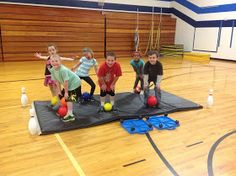 This week my students played Pinball and Sink the Ship. Both games are a great way to practice rolling a ball, catching, throwing and teamw...
