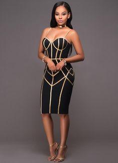 6eb03a9ff3a3 Sexy Women Stripe Spaghetti Strap Party Midi Dress