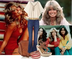 Ultimate Fashion Icons - Farrah Fawcett  girl next door , fashion figure in the 70's. Movies such as: Charlie's Angels.