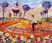 Stellenbosch in Western Cape Area Overview Pretty Pics, Pretty Pictures, South African Artists, Acrylics, Home Art, Landscape Paintings, Artworks, Art Gallery, Quilts