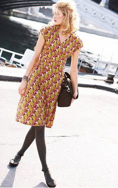 Athena Knit Dress from @Garnet Hill (In a solid for me, though--I think I'd look upholstered in this print!)