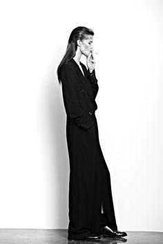 long slicked back hair  Kasia Struss for Hugh Lippe for Exit Magazine.