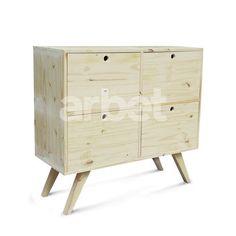 comoda retro de madera maciza