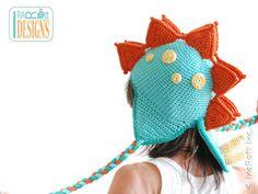 SALE Spiky the Stegosaurus Dino Hat Handmade Crochet by IraRott