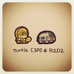 Turtle CP3O & R2D2 #turtleadayjuly - @turtlewayne- #webstagram