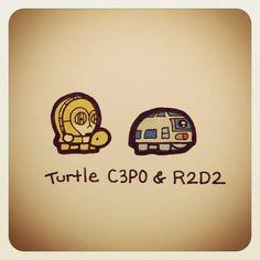 Turtle CP3O & R2D2 #turtleadayjuly - @turtlewayne- #webstagram