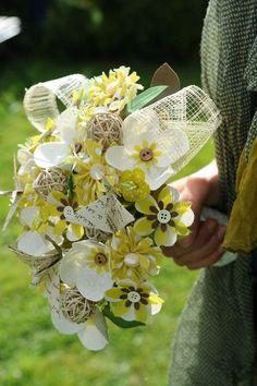 Bouquet de Mariée en tissus....