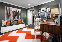 a bold area rug. A w