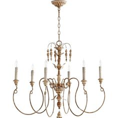 View the Quorum International 6006-6 Salento 6 Light 1 Tier Chandelier at LightingDirect.com.