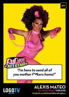 It's RuPaul's Drag Race TRADING CARD THURSDAY #AS-1: Alexis Mateo!
