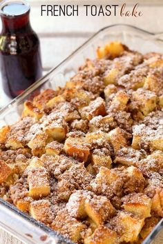 Super Delicious Overnight French Toast Bake recipe - so good! { lilluna.com }