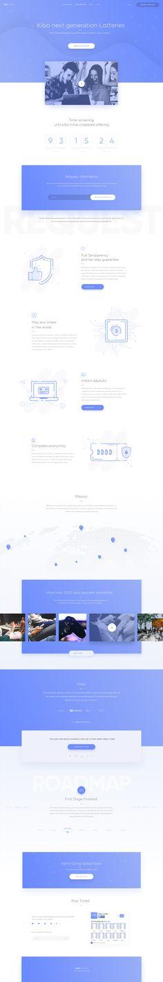 Landing Page Ui design concept – Kibo Lotto – by Martin Strba @BalkanBrothers