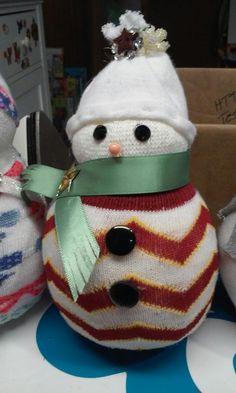 Sock snowman I made