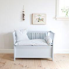 Truhenbank klassisch, grau von Oliver Furniture, Seaside Collection
