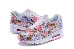 Nike Air Max 90 Women's Shoes Flower Pink/White