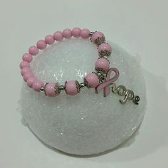 New Hope Pink Ribbon bracelet Pink hope bracelet. Stretches to fit. Unbranded Jewelry Bracelets
