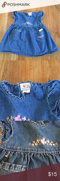 carters dress Great condition jean dress. Very cute on. Bundle to save even more 📦 Dresses