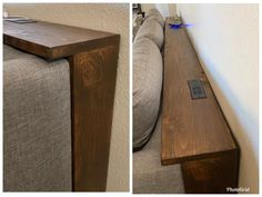 Behind the Couch Console Table Plans, Couch table Home Living Room, Home Projects, Behind Sofa Table, Diy Furniture, Custom Console Table, Wood Diy, Home Diy, Diy Sofa, Diy Sofa Table