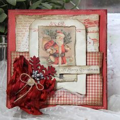 A Christmas card with our paper collection Siri's Kitchen by talented Anne Kristine