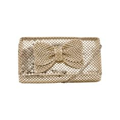 Jessica McClintock Mesh Asymmetrical Bow Clutch #shimmers