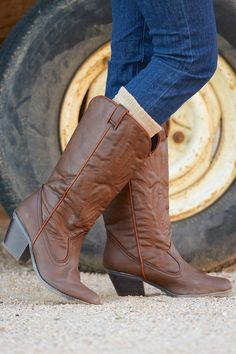 10% OFF with code REPLAUREN at checkout + free, fast US shipping || She's Gone Country Boots - Brown from Closet Candy Boutique
