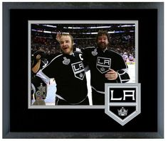 Dustin Brown & Justin Williams Celebrate Winning Game 5 2014 Stanley Cup® Finals