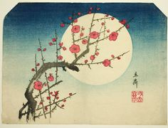 Utagawa Hiroshige Japanese, 1797-1858 A Red Plum Branch against the Summer Moon, c. mid-1840s