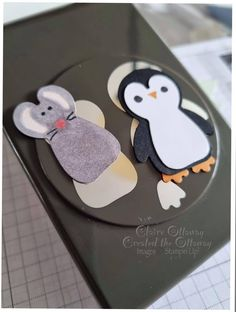 Paper Punch Art, Craft Punches, Animal Cards, Stamping Up, Homemade Cards, Stampin Up Cards, I Card, Penguins, Cardmaking