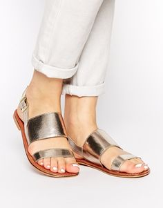 ASOS FOOL ALL Two Part Leather Sandals