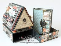 Photo House - Graphic 45 Cityscapes - Tutorial available Graphic 45, Cardboard Crafts, Paper Crafts, Paper Engineering, Altered Boxes, Diy Box, Recycled Crafts, Diy Scrapbook, Book Making