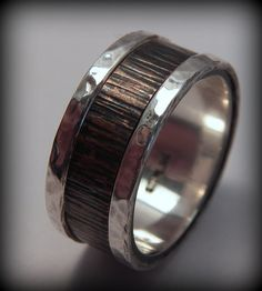 Rustic Sterling Silver and Copper Wedding band by VictorianMoon, $255.00