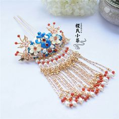 Bride Hair Accessories, Fashion Accessories, Chinese Hairpin, Ancient Jewelry, Hanfu, New Pins, Bride Hairstyles, Hair Pieces, Pretty Dresses