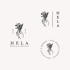 Logo Inspiration, Logo Mano, Logo Branding, Branding Design, Florist Logo, Logo Shapes, Organic Logo, Professional Logo Design, Badge Design