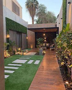 Design Exterior, Modern Exterior, Backyard Patio Designs, Small Backyard Landscaping, Landscaping Ideas, Loft Interior, Terrace Design, Outdoor Living, Outdoor Decor