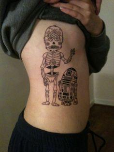 star wars sugar skull tattoos