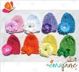 16 Pack (8 Hats   8 Hair Accessories) of Super Soft 'Ema Jane' Crochet Baby Beanie Waffle Hats with