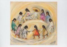 Ted de Grazia – pastel images of Native American children